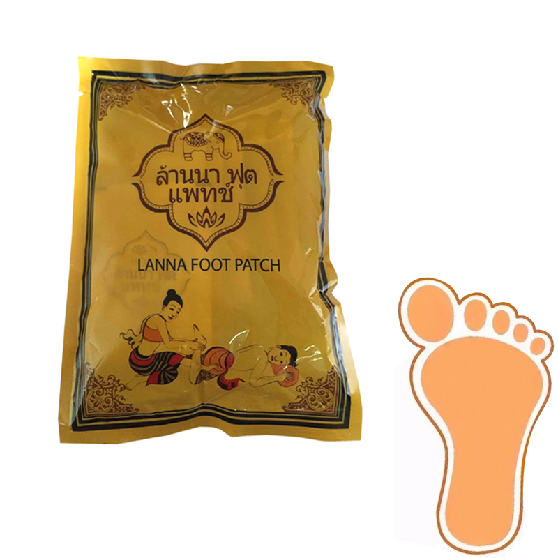 Original LANNA Detox Foot Pads Patches Improve Sleep Slimming Foot Care Feet stickers Health Care C121
