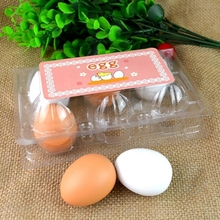 Simulation Egg Group Cooking Kitchen Wooden Baby Toys Children Play 6pcs/set(China (Mainland))