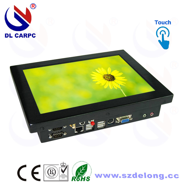Hot Sale Rugged 10.4 Inches Industrial Fanless LCD Touch All In One Rugged Industrial PC