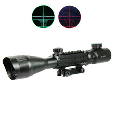 C 4-12X50EG Tactical Optical Rifle Scope Red Green Dual illuminated w/ Side Rails & Mount Hunting Airsoft Tactical Hunting Scope