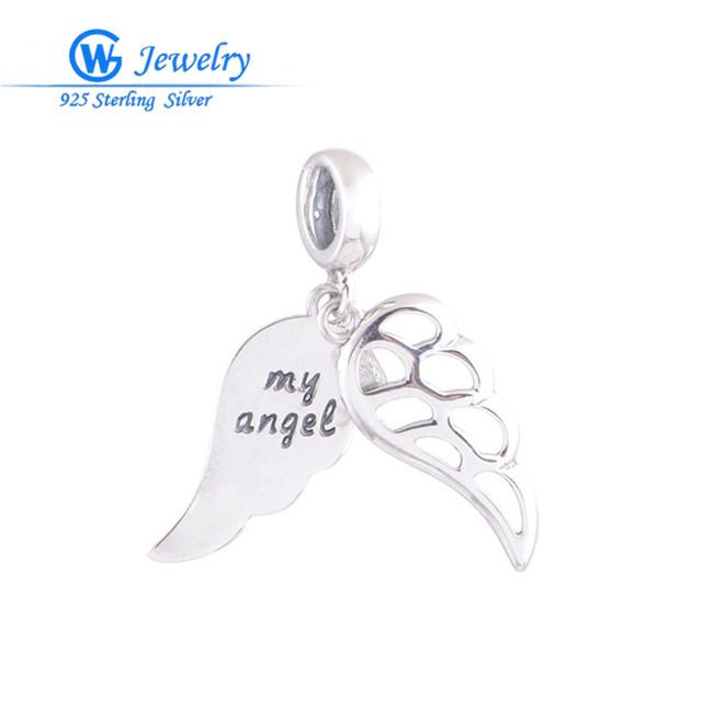 Мода Тибетский Серебряный Кулон Стерлингового Серебра 925 Angel Wings Подвески Ограниченная ...