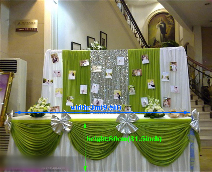 Buy wedding supplies table skirts ice for Where can i buy wedding decorations