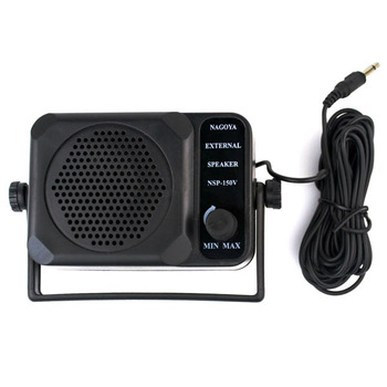 New Black CB Radios Mini External Speaker NSP-150v Ham For Walkie Talkie for Kenwood for Motorola for ICOM J0075A Eshow