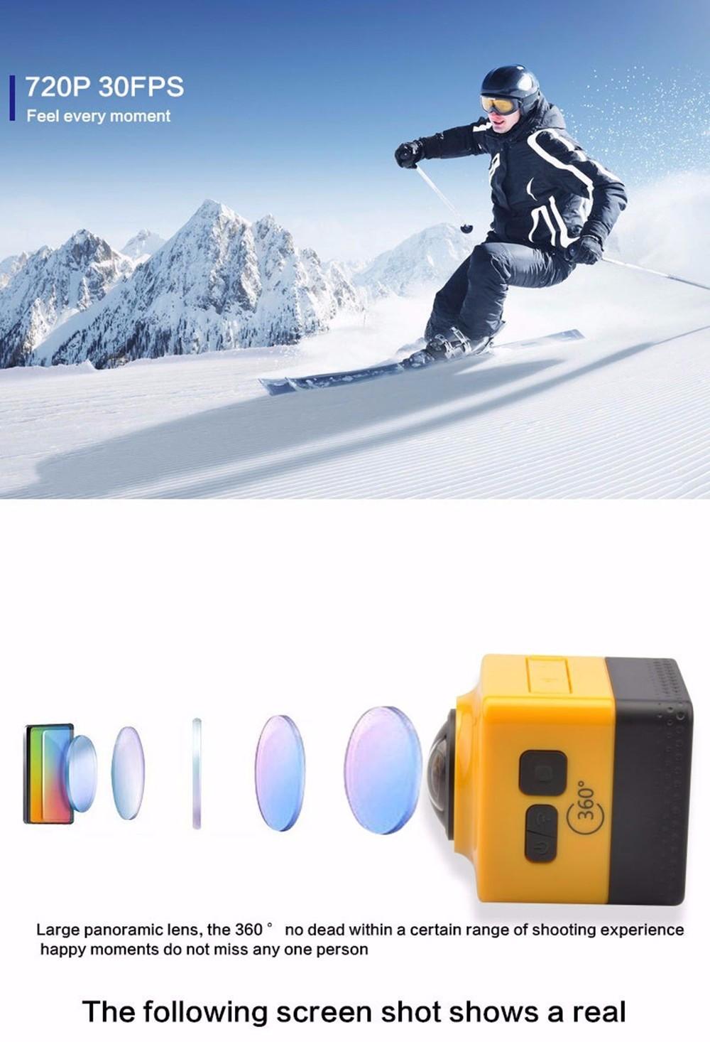 ถูก Cube360กล้องWiFi 720จุด360องศาการกระทำกล้องพาโนรามาVRกล้อง360กล้องวิดีโอ
