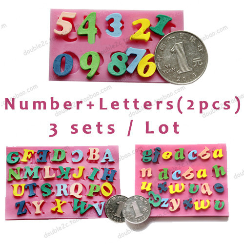 Silicone alphabet mold chocolate mold numbers moulds for for Number 3 decorations