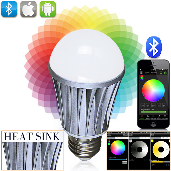 bluetooth remote control rechargeable led bulb light with remote led rgb controller(China (Mainland))