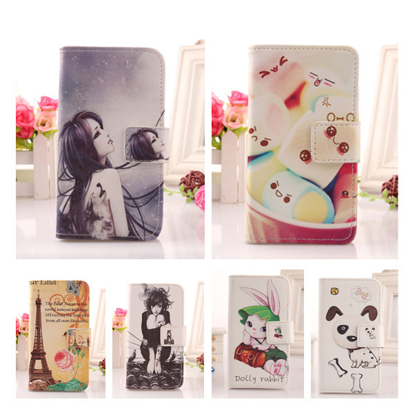 AIYINGE Flip Colorful PU Skin Leather Protection Cover Mobile Phone Cover Holder & Credit Card Case For THL W100 W100S(China (Mainland))