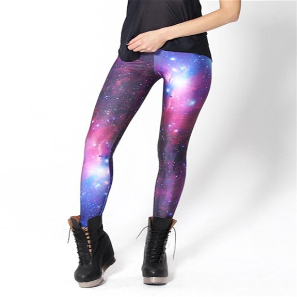 Drop ship 2015 HOT! SEXY! Women Galaxy Purple Leggings Space Printed Pants Milk Leggings sexy legging Plus Size(China (Mainland))