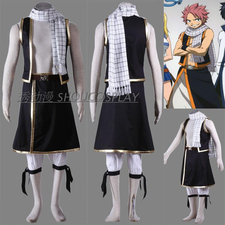 New anime Fairy Tail Natsu Dragneel cosplay costume any size