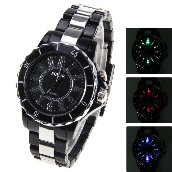 2013 Items 3 Color LED Watch Top Grade Men Watches Analog Quartz Wristwatch Free Shipping Drop Shipping<br><br>Aliexpress