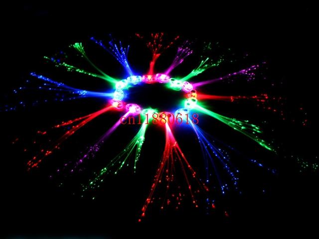 1200pcs/lot Free Shipping LED Light Hair Flashing Hairpin tire color fiber Luminous braid Christmas Festival Bar Party Supplies(China (Mainland))
