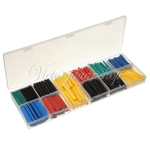 280pcs Free Shipping 2 1 8 Sizes 11 Colors Assortment Polyolefin H type Heat Shrink Tubing