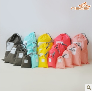 Waterproof Lucky Tote Travel Drawstring Storage Bag Classification Shoes Finishing Laundry Bag,Bean Bag Four Size 4Pcs/Set<br><br>Aliexpress