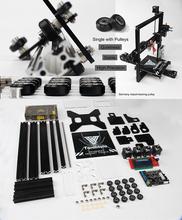 Auto leveling Dual Extruder Tarantula I3 Aluminium Extrusion 3D Printer kit printer 3d 2 Rolls Filament