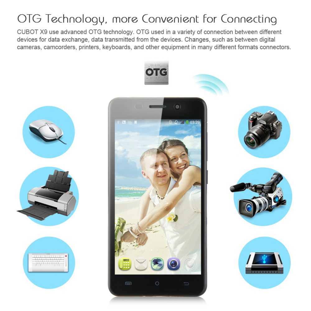 Brand Cubot X9 5 0 Octa Core MTK6592 Android 4 4 3G Celular Mobile Phone Dual