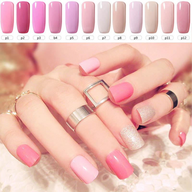 8ml 12 Pink Series Cute Color Coat Gel Nail Polish UV Led Sweet Candy Nail Gelpolish Manicure UV Gel Varnish Vogue Nails Builder(China (Mainland))