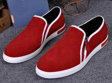 2016 Men leather shoes casual men's shoes zip side slip on loafers low top men flats high quality(China (Mainland))