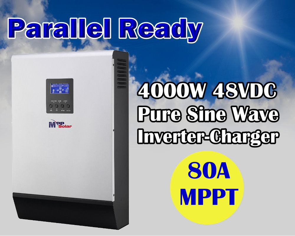 5KVA 4000w 48v 220v off grid solar power inverter mppt solar inverter 80A mppt solar charger built in(Taiwan)