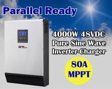 5KVA 4000w 48v 220v off grid solar power inverter mppt solar inverter 80A mppt solar charger built in(Taiwan)