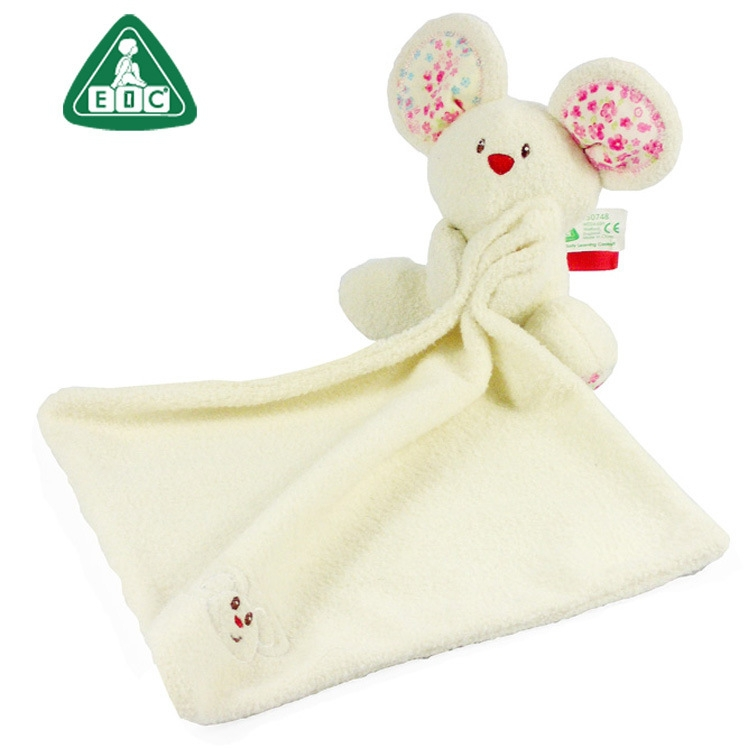ELC baby towel baby toys 0-12 months rattles 25cm*25cm white baby soft toys baby plush blanket toys for toddlers tapete infantil(China (Mainland))