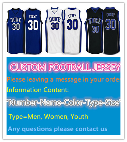 Seth Curry Jersey Retro #30 Duke Blue Devils Throwback College Basketball Jersey New Black White Blue Embroidery Jerseys XXS-6XL(China (Mainland))