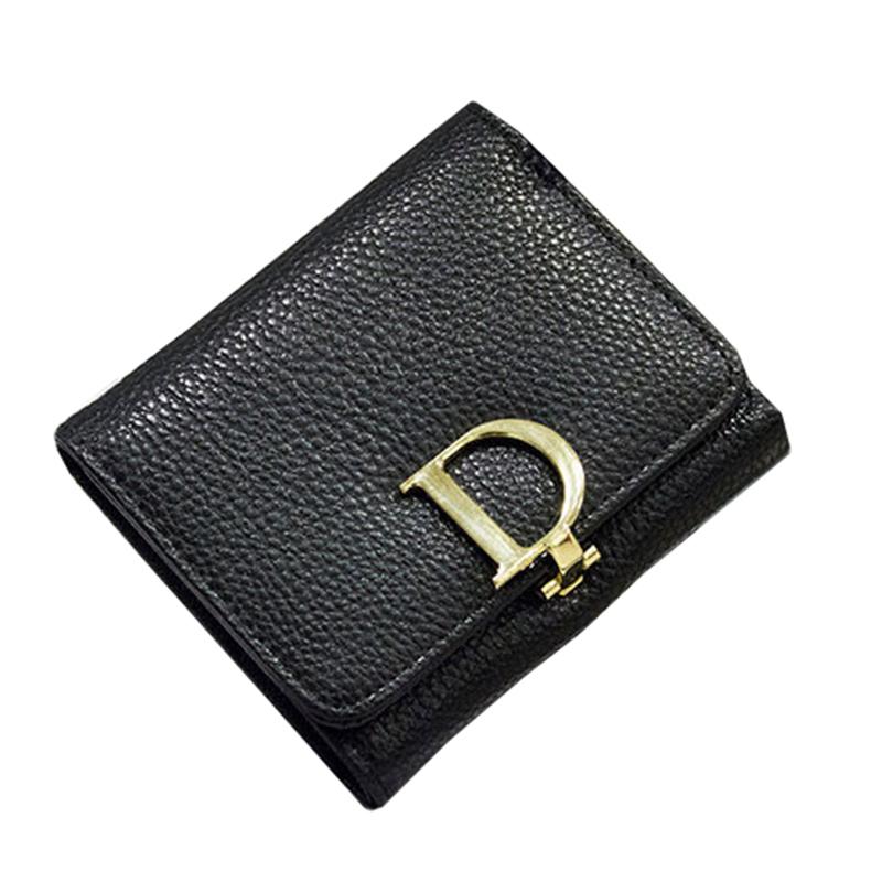 1pc Fashion Women Wallets letter buckle Design Short Purse Ladies Short Coin Purses 3 Fold Wallets -- BIC046 PM49(China (Mainland))