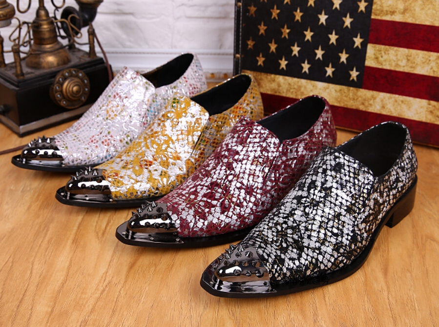 Fashion Summer Style Men Wedding Shoes Loafers Metal Pointed Toe Men Oxfords Business Dress Shoes Men Sneakers zapatos mujer(China (Mainland))
