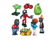 Free Shipping Plants vs Zombies PVC Garden War Collection Action Figures PVZ toys for children gift 8pcs /set