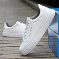 Men couples shoes Leather Casual shoes Flat shoes Outdoors Pure color lover joker White shoes calzado