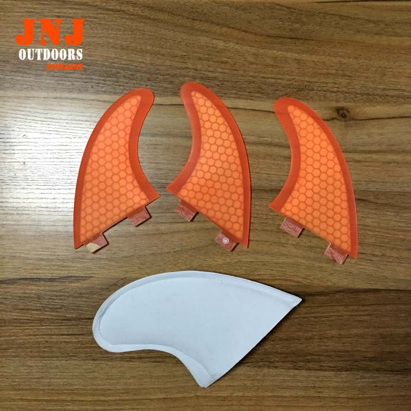 Alibaba supplier top quality Fiberglass Honeycomb Surfboard surf fcs fin G3 for surfing and paddling(China (Mainland))