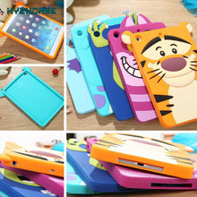 New arrive festival gift Cute lovely 3D Cartoon Minnie Sulley tiger cat silicon Shell Case cover For iPad mini 2 Free shipping(China (Mainland))