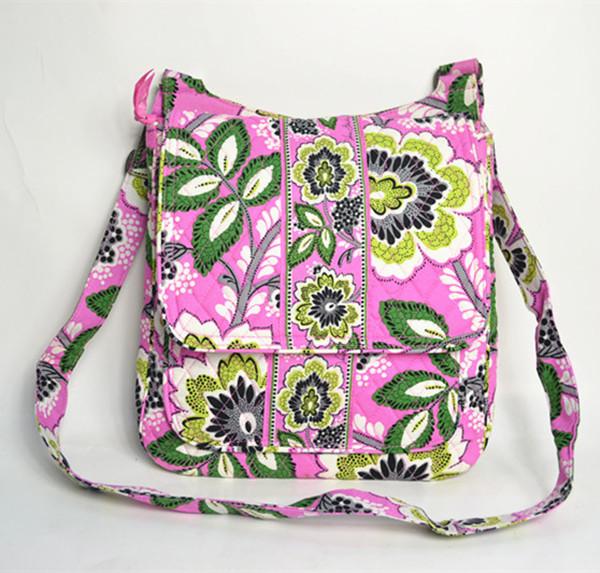 100% cotton big size VB messenger bag 28x8x30.5 cm, fresh college style ladies Satchel CR-B3(China (Mainland))