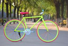 26er   fixed gear bicycle tire road   V brakes  26*30 tires   steel  bike 1 speed     CE roah road bicycle 3(China (Mainland))