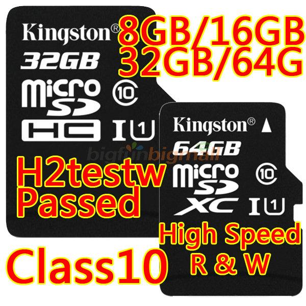 New 2015 Kingston Flash Memory Card 32 Gb Micro Sd Card 32gb Class 10 Tf Card Microsd 64gb 128GB Cards With Retail Packing(China (Mainland))