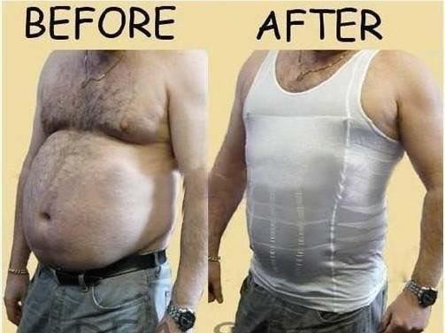 Mens Slimming Body Shaper Bellly Buster Underear Vist Compression s M L XL XXL