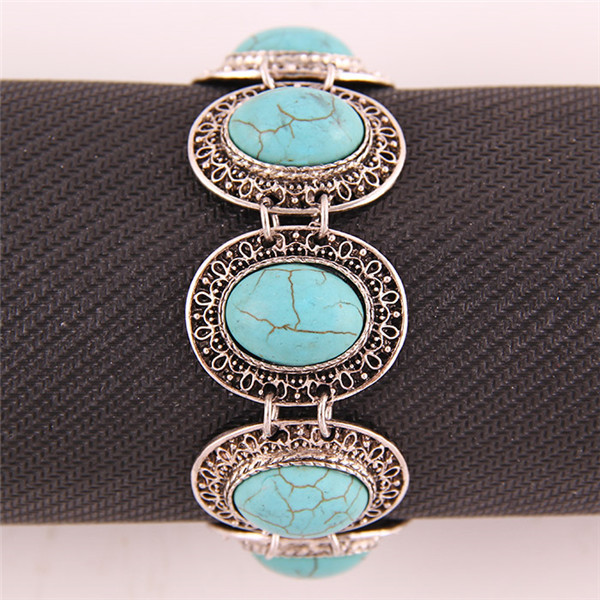 classic design vintage natural turquoise stone bracelet - Vogue Jewelry store