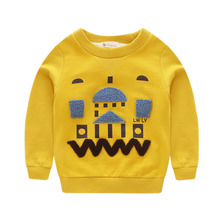 Hot Sale 2016 Autumn Fashion Children Hoodies Boys Long sleeve Pullovers Warm Kids coats boys tops clothing WY08(China (Mainland))