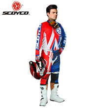 SCOYCO Motorcycle Racing Clothing Motocross Off-Road Dirt Bike MTB DH MX Riding Jersey + Hip Pads Pants Full Finger Gloves Set - THE WEST OUTDOOR SPORTS store