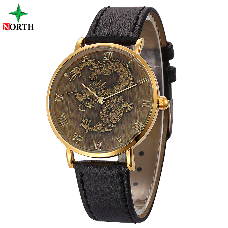 Relojes Hombre 2016 Dragon Watch Business Mens Watches Top Brand Luxury Gold Watch Mens Fashion Wristwatch Quartz-Watch Men XFCS(China (Mainland))