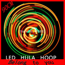1pcs/lot Free Shipping Diameter 90 CM LED Hula Hoop 28 Pieces Of LED Sports & Exercise Performance Hoop Weight loss hoop
