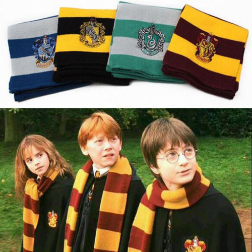 Unisex Cotton Patchwork 2015 Freeshipping New Arrival Harry Potter Knitted Scarf Cosplay Striped Warm Scarves Wraps