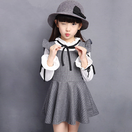 2015 new winter autumn big girls clothes for 4 6 8 10 12 years cute ruffles black long sleeve kid girl dress party dress NG98<br><br>Aliexpress