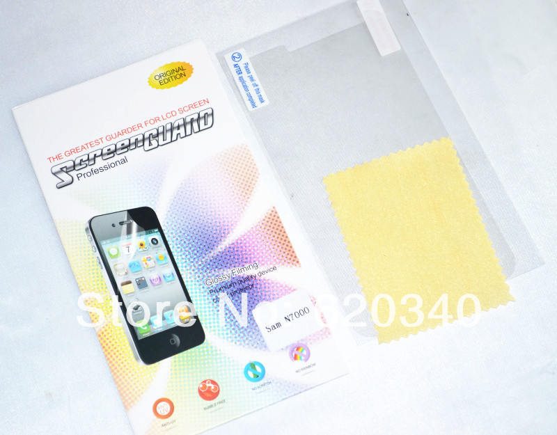 10/Pcs Samsung SAM N7000 mobile phone transparent protective film/ HD protective film (Top grade have packaging)(China (Mainland))