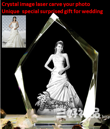 Good quality Crystal image carve your photo 7 colourful light private customized DIY gift for wedding valentine birthday(China (Mainland))