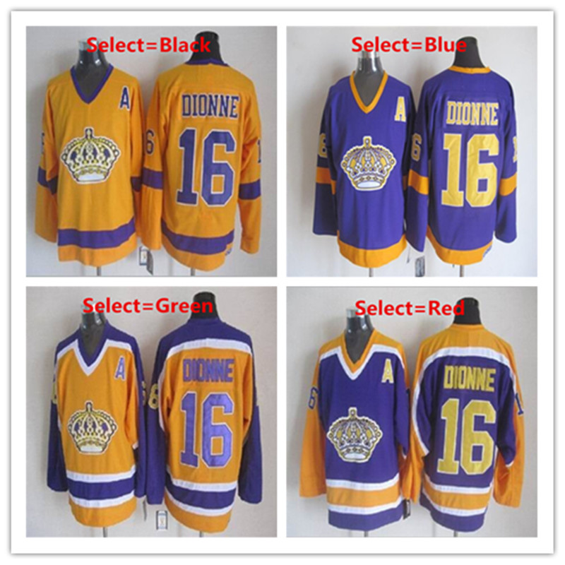 Mens Los Angeles Jerseys Kings #16 Marcel Dionne Stitched Embroidery CCM Vintage Throwback Ice Hockey Jersey(China (Mainland))