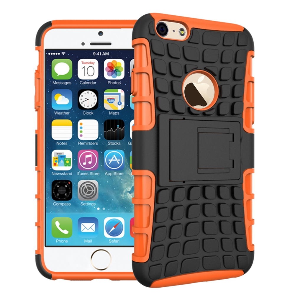 For IPHONE 6 4.7 Tire pattern case, two in one TPU+PC Tire pattern Stand Cell Phones Case Cover For IPHONE 6 4.7 case(China (Mainland))