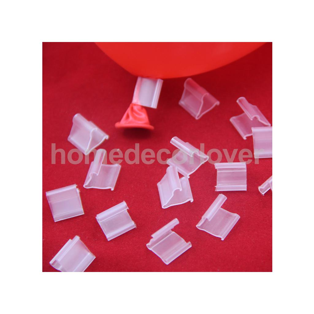 100pcs V Shape Balloon Clip Ties for Helium Gas Air Balloons Sealing Quick Easy Fasten Tool(China (Mainland))