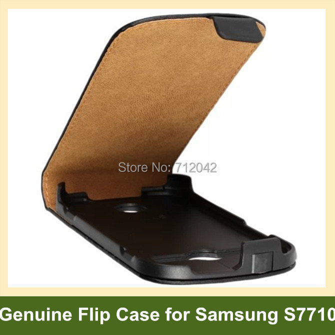Luxury Genuine Leather Flip Cover Case for Samsung Galaxy Xcover 2 S7710 with Magnetic Snap 10pcs/lot Free Shipping