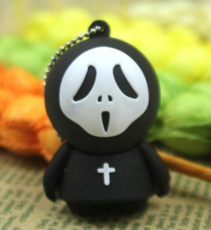 100% real capacity Fashion Cartoon ghost gift sb flash drives 4GB 8G 16G USB Flash 2.0 Memory Drive Stick Pen/Thumb/Car S15
