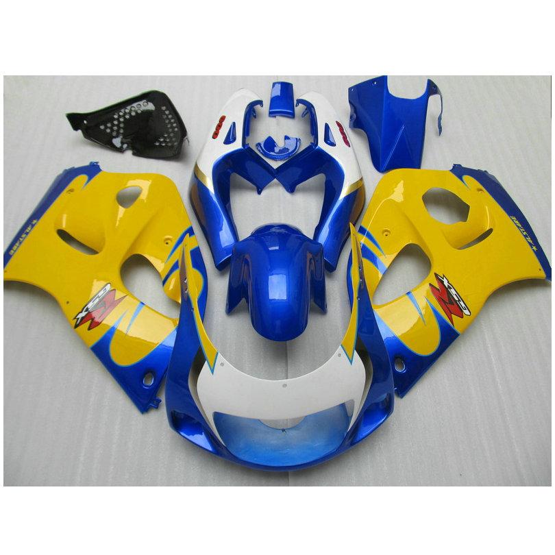 Fairing kit fit for SUZUKI GSXR600 GSXR750 1996-2000 Blue yellow fairings SRAD GSXR 600 750 96 97 98 99 00 bodywork FVF53(China (Mainland))